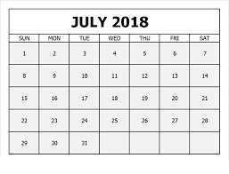 printable monthly blank calendar calendar july 2018 printable monthly template free june 2018