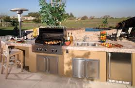 Countertop For Outdoor Kitchen Glamorous Outdoor Kitchen With Ceramic Countertop Feat Beautiful