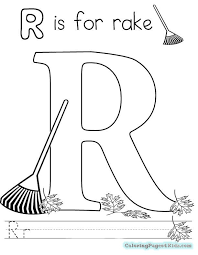 letter r pre coloring pages