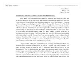 a comparison between an african sermon and r fever  document image preview