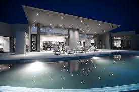 superb exterior house lights 4. Outdoor Lighting, Luxurious And Modern House With Swimming Pool At Night: Outstanding Led Superb Exterior Lights 4 I