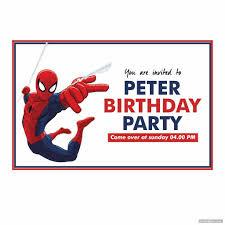 Spiderman Birthday Invitation Templates Free Spiderman Birthday Invitations Printable Printabler Com