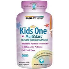 rainbow light kid s one multistars multivitamin fruit punch 90 tabs 021888109821