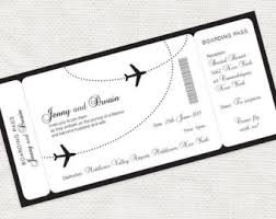 Wedding Plane Ticket Etsy