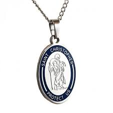 engravable st christopher pendant customized religious jewelry gifts personalized necklaces for men women