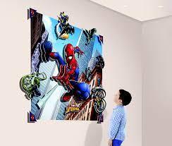 spider man 3d wall mural 4ft x 5ft