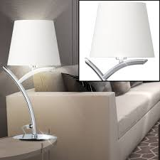 rgb led textile arc table lamp in white height 40 cm y bild 5