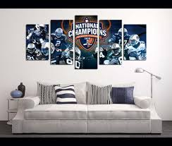 >5 piece canvas art wall art canvas auburn football awesomever 5 piece canvas art wall art canvas auburn football