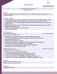 Sample Medical Resume Professional Medical Assistant Resume Sample