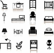 bedroom furniture clipart. furniture icons bedroom clipart