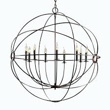 black orb chandelier large