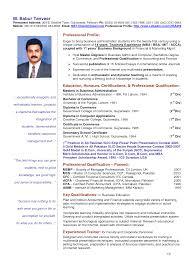 Sample Vitae Resume For Teachers Resume For Your Job Application