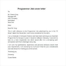 Clerical Experience Cover Letter Programmer Cover Letter Sample
