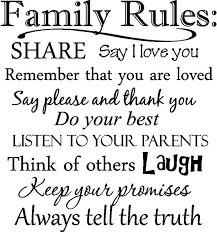 Quotes To Say I Love You Extraordinary YINGKAI Family Rules Share Say I Love You Family Quotes Saying