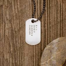 lasting bond dog tag necklace large