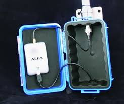the homemade antenna uses the same alfa wifi lifier as the wirie