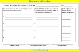 behavior intervention plan template student success contract jpg