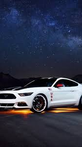 ford mustang iphone wallpaper. Preview Wallpaper Ford Mustang White Side View Night And Iphone