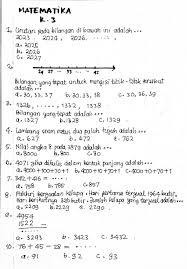 Matematika kelas 3 semester 1 berilah tanda silang pada jawaban yang benar ! Uas Matematika Kelas 3 Semester 1 Kurikulum 2013 Memorabilia