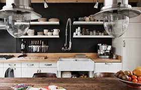 ... black kitchen wall via freshome.com
