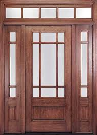 front door with one sidelightCraftsman Style Front Doors  Entry Doors  Exterior Doors
