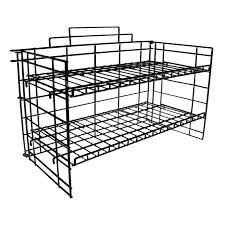 black 2 tier p o p countertop rack view larger