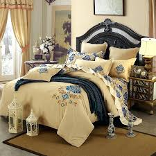 hotel style bedding luxury hotel style beige and cobalt blue rococo pattern modern themed cotton damask