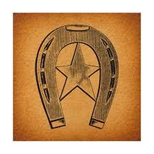 star antique horse shoe wood wall art