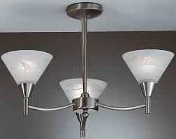 harmony satin nickel 3 light semi flush ceiling light