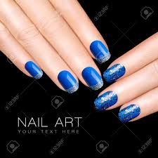 Nail Art Blue And Black Best Nail 2017. 55 Most Stylish Feather ...