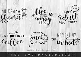 Calligraphy & hand lettering for beginners! Free Funny Quotes Svg Png Eps Dxf By Caluya Design