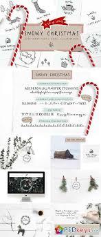 Snowy Christmas Script Font Logos 1840191 Free Download