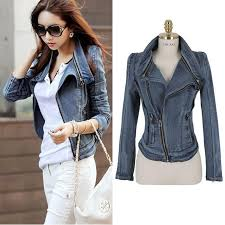whole 2016 vintage fashion slim women motorcycle jeans jacket cool trend all match high street england style casual las coat down jacket womens
