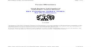 Irs Telephone Directory For Practitioners Nbsp Texas