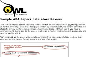 Apa Format For Thesis Writing Literature Review Example Apa Template Outline Thesis