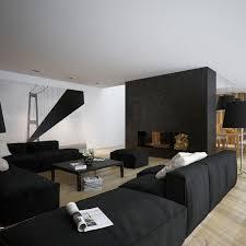 Living Room: Astounding Black White Living Room Design With Black ...