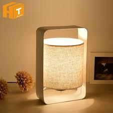 Presyo Ng Iron Modern Table Lamps Wood With Fabric Lamp Shade E27