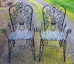 iron patio chair garden set vintage