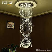 chandeliers spiral crystal chandelier modern staircase lighting double ceiling lamp living room hanging l spiral crystal