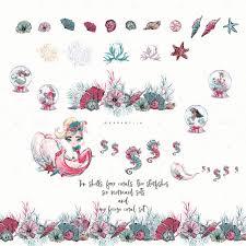 Christmas Mermaid Clipart In 2019 идеи для рисунков