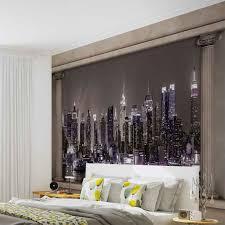 New York Skyline Wallpaper For Bedroom New York City Skyline Window View Photo Wallpaper Mural 2867wm