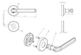 technical drawing technical drawing door handle