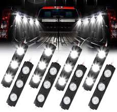 How To Install Truck Bed Lights With Switch Truck Bed Lights Aaiwa Led Rock Light For Truck Pickup Bed 24 Leds Off Road Under Car Side Marker Led Rock Lighting Kit White 8 Pcs