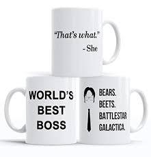 the office star mug. The Office Funny Coffee Mug | 3-Piece Merchandise Set Worlds Best Boss, The Office Star Mug