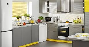 White kitchen cabinets and freestanding stove Contemporary kitchen design  with freestanding kitchen appliances ...