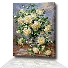Frameless Europe Flower Abstract Diy <b>Painting</b> Acrylic <b>Vintage</b> ...