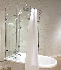 clawfoot tub and shower conversion kit glass
