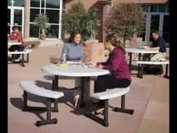 best lifetime 44 inch almond round picnic table