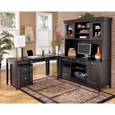 contemporary home office furniture collections. ashley carlyle l desk credenza tall hutch set the sleek design of contemporary styled home office furniturefurniture setsfurniture furniture collections