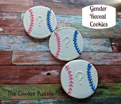 gender reveal ideas baseball the cookie puzzle gender reveal cookies